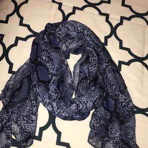 Blue snakeskin print scarf